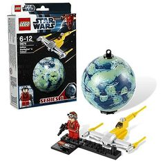 LEGO Star Wars 9674 Naboo Starfighter & Naboo - Lego - Star Wars - Construction Toys at Entertainment Earth http://www.entertainmentearth.com/prodinfo.asp?number=LG9674&id=TO-603025911