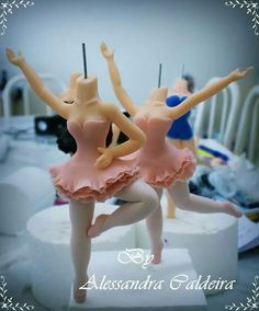 Ballerina Toppers in process