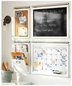 Daily System Kitchen Set, Espresso stain At Pottery Barn - Organization - Wall Organization Systems Command Center Kitchen, Family Command Center, Command Centers, Wand Organizer, Family Organizer, Home Design, Diy Design, Design Ideas, Layout Design