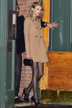 Who: Taylor Swift What: French dot tights Why: After a many-seasons fixation on thick black tights, suddenly sheer stockings look fresh again—especially with some well-placed French dots a la Taylor Swift's. Get the look now: ASOS tights, $18, us.asos.com