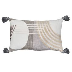 Oblong Deco Stripe With Tassels Pillow 14X24 | At Home Circle Design, At Home Store, Tassels, Throw Pillows, Decor Ideas, Color, Toss Pillows, Cushions, Colour