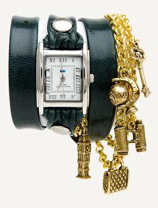 Emerald - Gold Travel Wrap Watch