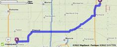 Driving Directions from 25495 State Road 19, Arcadia, Indiana 46030 to 8339 N 400 E, Bryant, Indiana 47326 | MapQuest