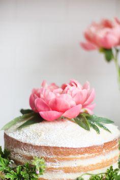 Rustic Peony Cake