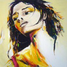 printemps - Peinture,  100x100 cm ©2009 par Christian Vey -