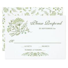 On the Prairie Wedding RSVP Card