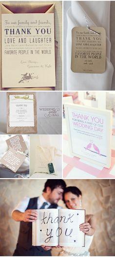 Agradecendo seus convidados | Thank you wedding photos and notes