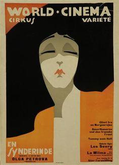 Sven Brasch. 'En Synderinde', 1918, plakat - DK, Vejle, Dandyvej