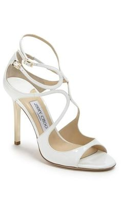 Strappy white sandal: perfect wedding shoe