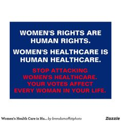 Women's Health Care is Human HealthCare postcard. Women's rights are human rights. 50% of designer's proceeds benefit Planned Parenthood #resist #IStandwithPP