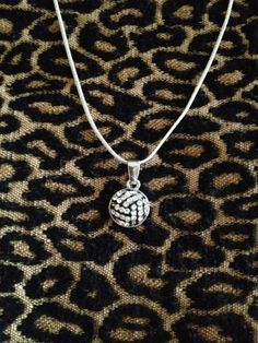 "16"" or 18"" Silvertone Rhinestone Volleyball Necklace Bling Volleyball MOM or Player. $9.99, via Etsy."