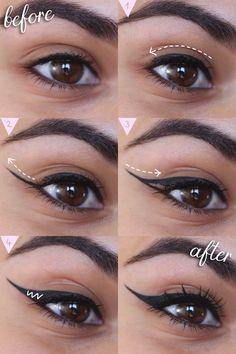 Eyeliner Guide for Beginners | How To: Winged Eyeliner Tutorial for Beginners | Cat Eye Tutorial | Slashed Beauty #makeup #wingedliner #wingedeyeliner #cateye