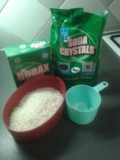 home made washing powder Fabric Softener, Creme, Oatmeal, Cleaning, Homemade, Crystals, Powder, Breakfast, Food