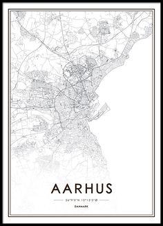 Aarhus-plakat, plakat med kort over danske byer.
