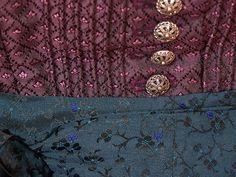 Vintage Dirndl mit Schürze, lila, Gr.52, XXL