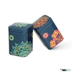 Embalagens de metal com impressão. Consulte todas as nossas embalagens em: http://loja.mediapack.com/pt/embalagens-de-metal/