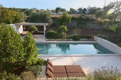 Trullo Iduna_Lounge al fresco mit Pool