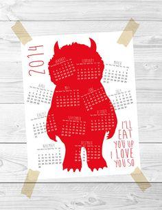 Printable Wild Things calendar by Febystan | Cool Mom Picks