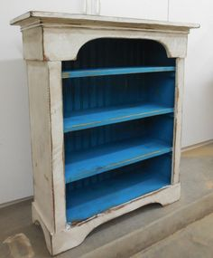 Primitive Bookcase, French Country Book Shelf,Free Standing Book Case,Bead board #NaivePrimitive