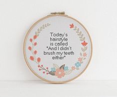 Thrilling Designing Your Own Cross Stitch Embroidery Patterns Ideas. Exhilarating Designing Your Own Cross Stitch Embroidery Patterns Ideas. Cross Stitching, Cross Stitch Embroidery, Embroidery Patterns, Hand Embroidery, Funny Embroidery, Needlepoint Patterns, Cross Stitch Quotes, Cute Cross Stitch, Funny Cross Stitch Patterns