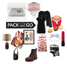 """""""Pack and go"""" by stephanieyao143 ❤ liked on Polyvore featuring Chicwish, MSGM, TonyCohen, Home Decorators Collection, MAC Cosmetics, Warehouse of Tiffany, Dr. Martens, KitchenAid and Elizabeth and James"""