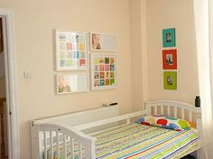 How do display kids art using old IKEA frames