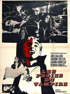 The Vampire (1957). French movie poster. Mexican horror starring German Robles and Abel Salazar.