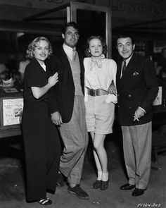 Carole Lombard  Marlene Dietrich, Cary Grant Richard Barthelmess  party at the Venice pier in June 1935,