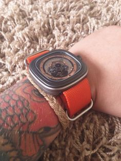 Sevenfriday P2 with Orange NATO strap