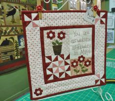 Finished my Little Red Nine quilt designed by Red Button Quilt Company :) Quilting Projects, Quilting Designs, Sewing Projects, Appliqué Quilts, Mini Quilts, Quilt Kits, Quilt Blocks, Miniature Quilts, Quilted Table Runners