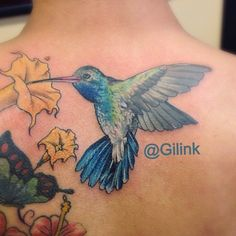 Hummingbird Tattoo by Gilbert Machado Black Rose Tattoo Club Deerfield Beach Florida http://tattoopics.org/hummingbird-tattoo-by-gilbert-machado/ #tattoo #Hummingbird #Hummingbirdtattoo #tattoosforwomen