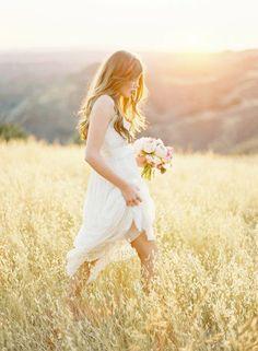 Walking through the summer fields #bridal