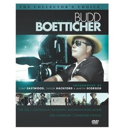 The Films of Budd Boetticher (Tall T / Decision at Sundown / Buchanan Rides Alone / Ride Lonesome / Comanche Station)  http://www.videoonlinestore.com/the-films-of-budd-boetticher-tall-t-decision-at-sundown-buchanan-rides-alone-ride-lonesome-comanche-station-2/