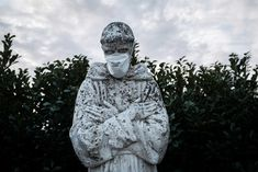 As the medical importance of face masks has increased during the pandemic, so has their symbolic value. Statues from Melbourne to Buenos Aires have been decorated with protective masks Health Ministry, Places In Italy, World Health Organization, High Risk, George Washington, Freddie Mercury, The Guardian, Around The Worlds, Sculpture