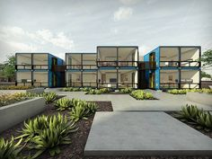 Shipping container housing project being built in Phoenix : TreeHugger