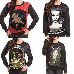 2015 Autumn Winter Women Men 3D Hoodies Pullovers Sweatshirts Sudaderas Harajuku Galaxy Top Print Devil Girl Black Milk