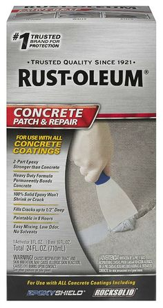 Rust-Oleum 301012 Concrete Patch and Repair, 24 Oz, Satin Finish - Ideas for the house - Welcome Haar Design Concrete Coatings, Concrete Driveways, Concrete Patio, Concrete Floors, Concrete Resurfacing, Plywood Floors, Concrete Lamp, Stained Concrete, Concrete Countertops