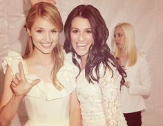 Dianna and Lea- i love how they are almost enemies on the show but such good friends in real life