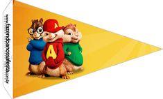 Bandeirinha Sanduiche 5 Alvin e os Esquilos