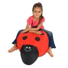 Awesome Animal Bean Bag for Kids, Chair, Multifunction Ladybugs Bean Bag as Doll and Wonderful Loveseat Stuffed Animal Bean Bag, Kids Bean Bags, Ladybugs, Love Seat, Bedroom Ideas, Dolls, Chair, Awesome, Animals