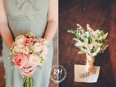 Romantic Rose Bouquets, Wedding Flowers Photos by Rachael Hall Photography