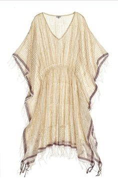 Leaf Printed Elastic Poncho | Calypso St. Barth - great swim wear cover up.