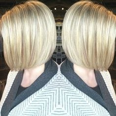 Lovely blonde highlighted bob :: RedBloom Salon
