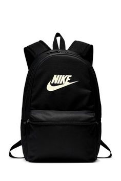 Buy Nike Black Heritage Backpack from the Next UK online shop Cute Backpacks For School, Metallic Backpacks, Heritage Backpack, Jansport Backpack, Gold Style, Next Uk, Nike Sportswear, Black Nikes, Fashion Backpack