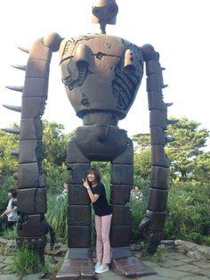 ジブリの森でロボット兵と。