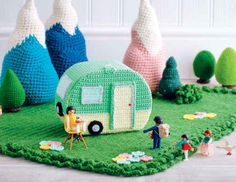 Lets Go Camping Crochet Patterns - Trailer