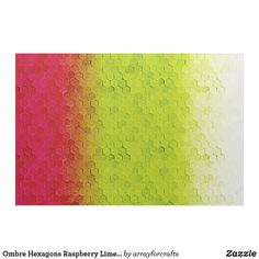 Ombre Hexagons Raspberry Lime ID114 Fabric