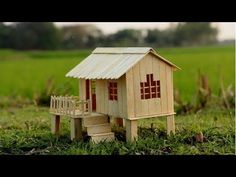 How to Make Popsicle Stick House for Kids - YouTube