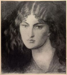 Mrs. William Morris by Dante Gabriel Rossetti, ca. 1865-70