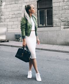 bomber jacket with chic matching set